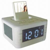 China Flash MP3 Player, LCD Display, Alarm Clock Functions, High-quality Stereo Audio-in on sale