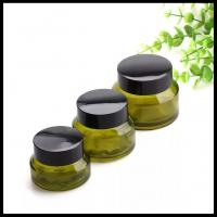 Oblique Shoulder Empty Cosmetic Containers , Amber Glass Containers With Lids