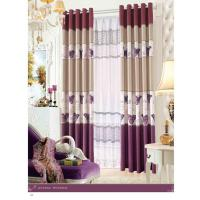 Quality Custom Polyester Lace Contemporary Ready Made Curtains Insulated Blackout Window Curtain for sale