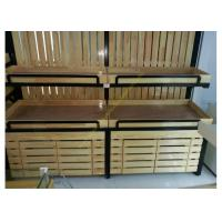 Quality SGS Supermarket Wooden Display Rack Single - Sided Electrostatic Spray Surface for sale