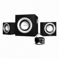 Quality 2.1-ch Speaker System with Subwoofer and Piano Paint Finish Panel for sale
