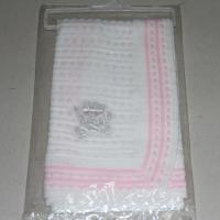Quality Free Knitting Patterns Baby Girl Shawl , Portable 100% Cotton For Baby Blankets for sale