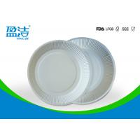 Quality White Color Eco Friendly Paper Plates 6 Inch For Birthday Celebrations for sale