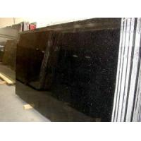 Quality Black Granite Slab (Black Galaxy) (LY-301) for sale