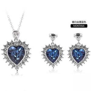 Quality Heart Jewelry set made with Swarovski elements TJ0081 for sale