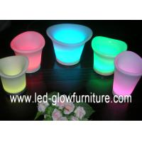 Quality Different size Waterproof lighting LED Flower Pots Rechargeable Plant Containers OEM for sale