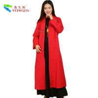 Buy 100% Cotton Long Chinese Coat , Soft Women Custom Embroidered Winter Jackets at wholesale prices