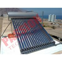 Quality Household Heat Pipe Solar Water Heater 200 Liter High Density Insulation for sale