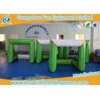 Buy 3*1.5*1.5M 0.6mm PVC Inflatable Sport Games Inflatable Soccer Gate Green White at wholesale prices
