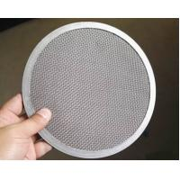 China Woven Wire Mesh Filter Disc SS Materials High Strain Ability Long Lifespan on sale