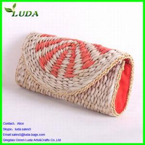 Quality Luda corn husk straw clutch/evening handbag for sale