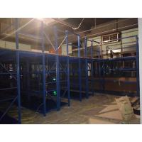 Quality Heavy Duty Metal Storage Shelves With Mezzanine Floor Blue Color  Capacity 300kg for sale