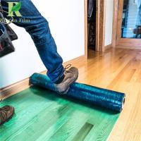 Quality 70 Micro Green Hardwood Floor Self Adhesive Covering Protective Film for sale