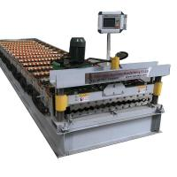 Quality Corrugated Galvanized Metal Roof Panel Tile Making Machinery 4kw Power for sale