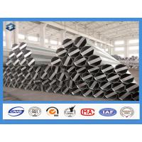 Quality Q345 Material 35FT 3mm Thick Hot Dip Galvanized Electric Steel Poles for sale