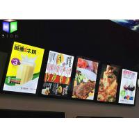 Quality Menu Lightbox LED Restaurant Menu Boards Backlight Aluminum Alloy Frame for sale