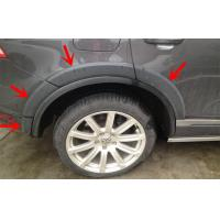 Quality Black Plastic PP Volkswagen Touareg 2011 Wheel Arch Flares Durable for sale