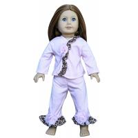 China Leopard Edge Madame Alexander 18 inch Doll Clothes , White Cotton American Doll Clothing on sale
