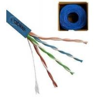 China UTP CAT5E Network Cable 24 AWG 4 Pairs Solid Bare Copper for Gigabit Ethernet on sale