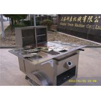 Quality 6 Trays Hot Dog Concession Carts , Mobile Kitchen Carts 3 gas steamers for sale
