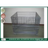 Quality Highbright wire container storage cages pallet ,  metal mesh storage containers for sale