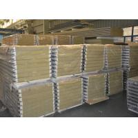 Quality Yellow inside rock wool panels fire proof no cold bridge no condensation for sale