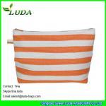 Quality lady paper straw purse striped straw clutch bags for sale