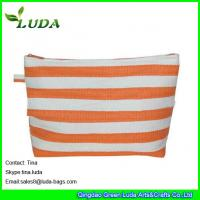 Quality lady paper straw purse striped straw clutch bags for sale