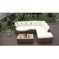 Quality Home Lounge Sofa With Pillow , Synthetic Rattan Sleeper Sofa Bed for sale