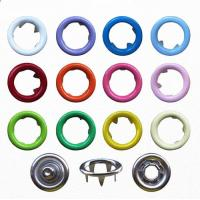 Quality 9.5mm Various Colors Ring Snap Button for Babies Wear; Brass Ring Prong Fastener for sale
