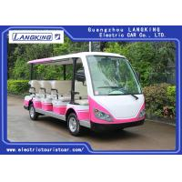 Quality Red / White 11 Passenger 72V 7.5KW Electric Tour Bus For Residential Community for sale