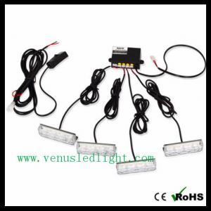 China 4 X 3 LED Blue Car Warning Light Strobe Flash Light Lamp on sale