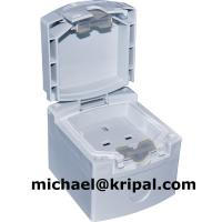 Quality IP55 13A 250V Waterproof socket outlet Wall mounted UV resistant for sale