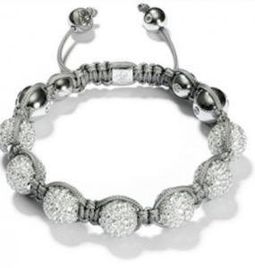 Quality 2012 new design white beaded crystal bracelets for men, women, unisex for sale