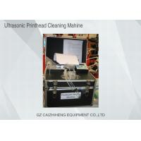 China Flush Liquid Ultrasonic Printhead Cleaning Machine , Black Heated Ultrasonic Cleaner on sale