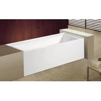 Quality cUPC skirted acrylic bathtub with feet price 3 sides tile flange 4mm pure acrylic sheet for sale