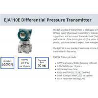 Quality Industrial EJA110E Differential Pressure Transmitter For Level Measurement for sale