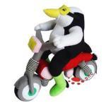 Quality Plush Penguin Rides Bicycle (TPKT0061) for sale