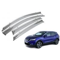 Quality Stainless Steel Shining Garnish Window Visors For Nissan Qashqai 2015 Awning for sale