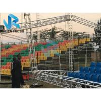 Quality Football Sports Stadium Seats with Backrest railing On Concrete Platform for sale