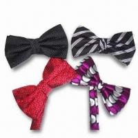 Quality Azo-free Bow Ties, Made of Polka Dot Grosgrain Ribbon, Suitable for School Girls for sale