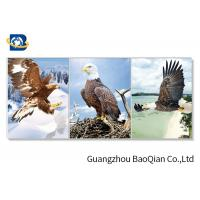 China Wall Hanging Decorative Beautiful Flying Eagle 3d Flip Moving Home / Hotel Wall Decoration on sale