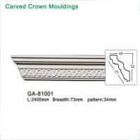 Quality Factory sales home interior decorative pu cornice/ carved crown moulding for sale