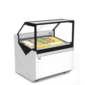 Quality Ice Cream Refrigerated Showcase Freezer , 6 trays Gelato Storage Freezer for sale