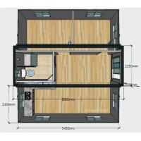 Quality 20ft Basic Collapsible Container House , Expandable 2 Bedroom Portable Building for sale