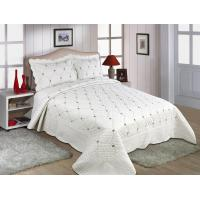 Quality Embroidery Queen Size Geometric Quilt Cover , Cotton Quilt Covers Color Printed for sale