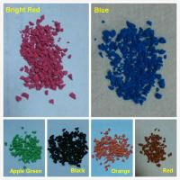 China Colorful EPDM rubber granules powder for rubber flooring surface on sale