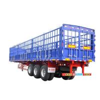 Stainless Steel 3 Axle Cargo Trailer / Skeleton Semi Trailer For Construction Site for sale