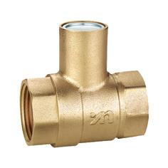 Quality 1101 Brass Ball Valve FxF threaded Nature brass looking with Magnetic Lockable stem sizes DN15 DN20 DN25 DN32 DN40 DN50 for sale