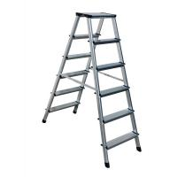 Quality GS Outdoor Silver Multipurpose Aluminium Foldable Ladder  2x6 Steps for sale